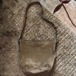 Olive Green Coach Shoulder Bag